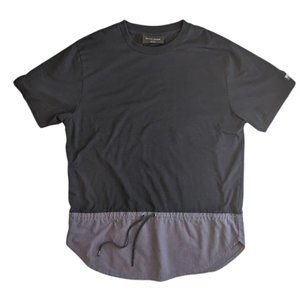 Black Scale Black and Gray Top with Strings Size L